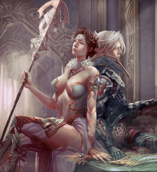 Xiao Botong deviantart ilustrações fantasia estilo oriental