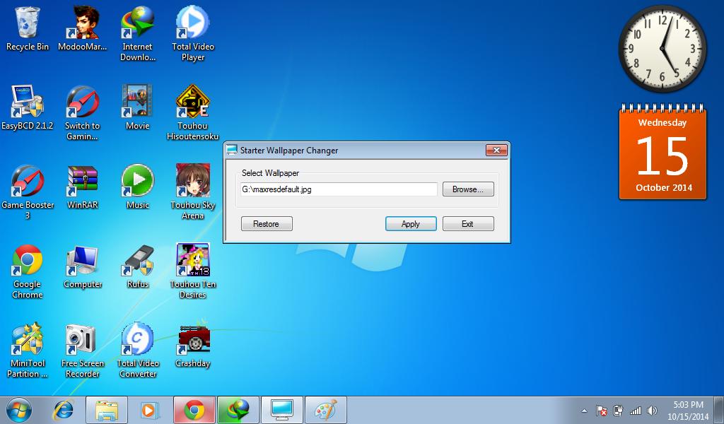 Windows 7 Starter Easy Way to Change Wallpaper