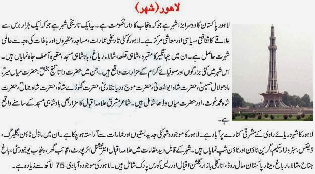 Essay on minar e pakistan in english