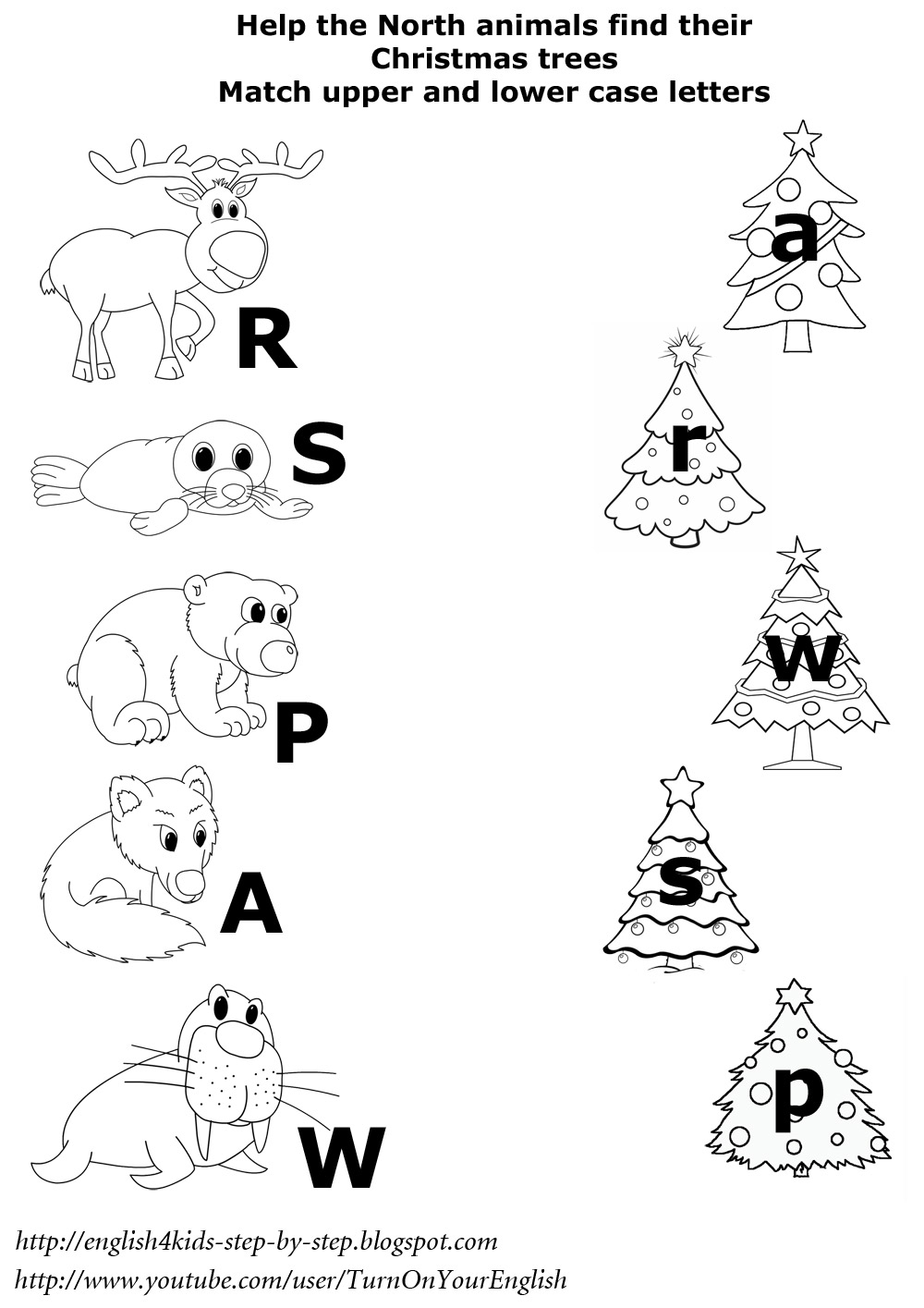 Arctic Animals Song for Children – Christmas Phonics Worksheets Kindergarten