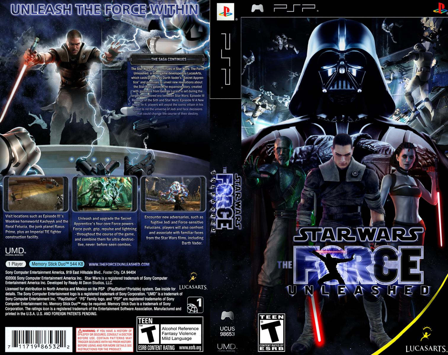 Capa Star Wars The Force Unleashed PSP