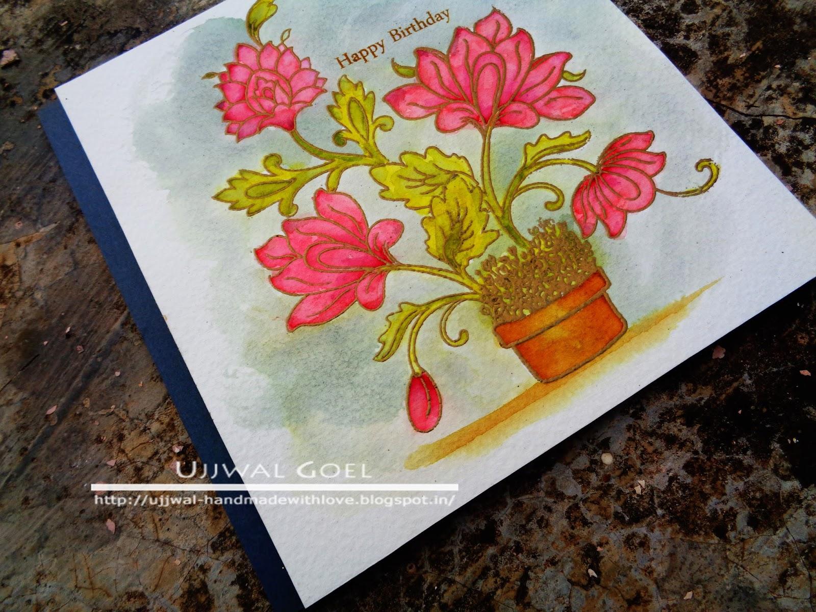 Watercolor Birthday Cards Tutorial ~ Happy birthday card video tutorial