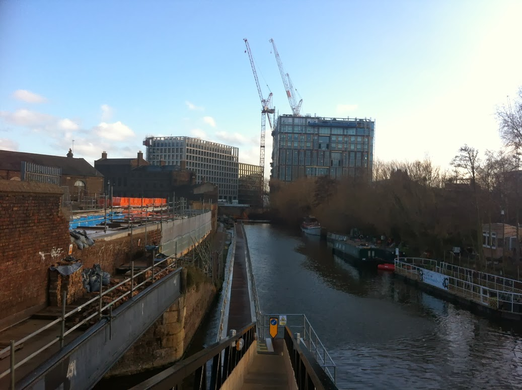 Looking south towards the Kings Cross redevelopment
