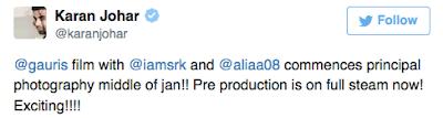 Karan johar tweet