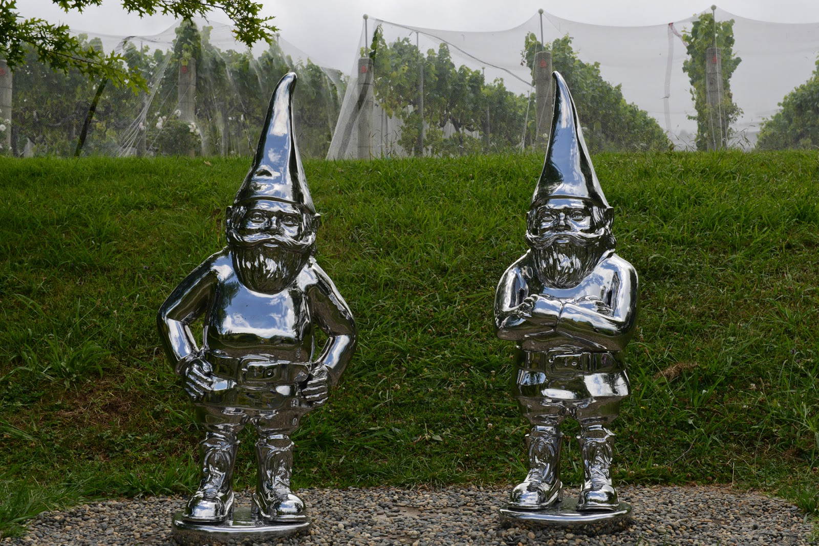 gnomes sculpture public art dog friendly