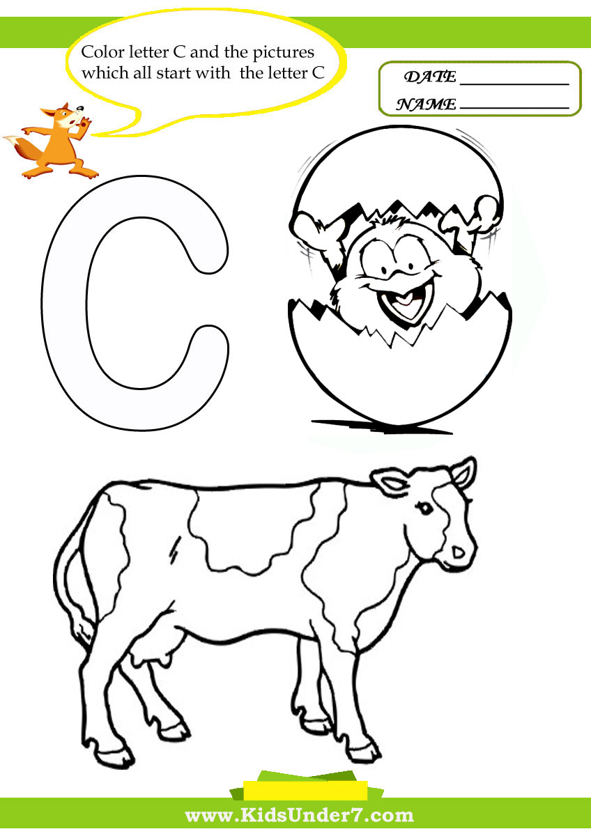 Kids Under 7 Letter Worksheets and Coloring Pages – Letter a Worksheets for Toddlers