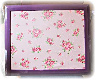 image magnetic noticeboard upcycled refashioned fabric painted wood