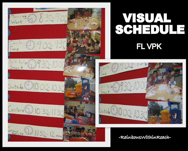 photo of: Visual Schedule in VPK using Photographs as Cues