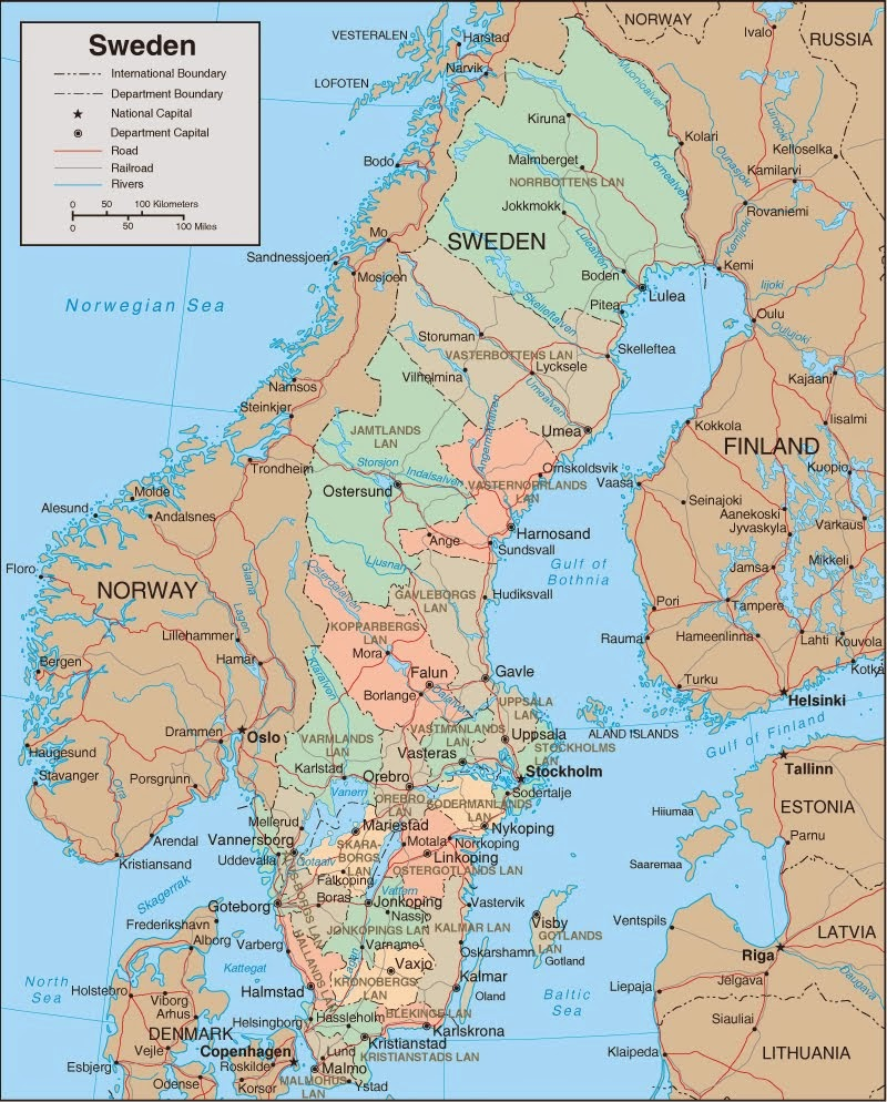 Map of Sweden