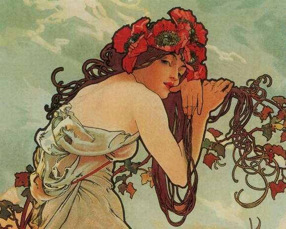 Alphonso Mucha Art Painting Wallpapers 01
