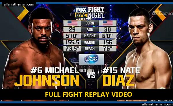 Nate Diaz vs Michael Johnson (FULL FIGHT REPLAY VIDEO) UFC on FOX 17