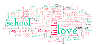 wordle created with words from blog post 1