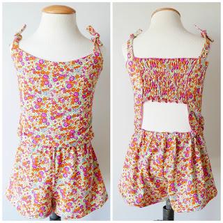 Vestido Jumpsuit para niña y patrón pdf de costura