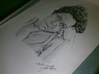 Manuela Cássia - caneta esferográfica by Fabrício Sant'Ana