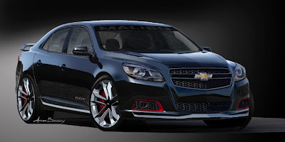 Chevrolet Malibu Turbo Performance Concept (2012 Rendering) Front Side