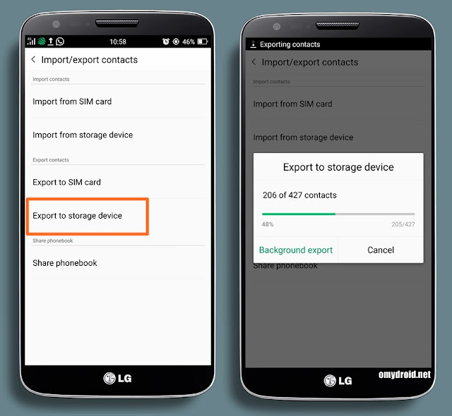 Cara Memindahkan Contact ke Sd Card (Android)