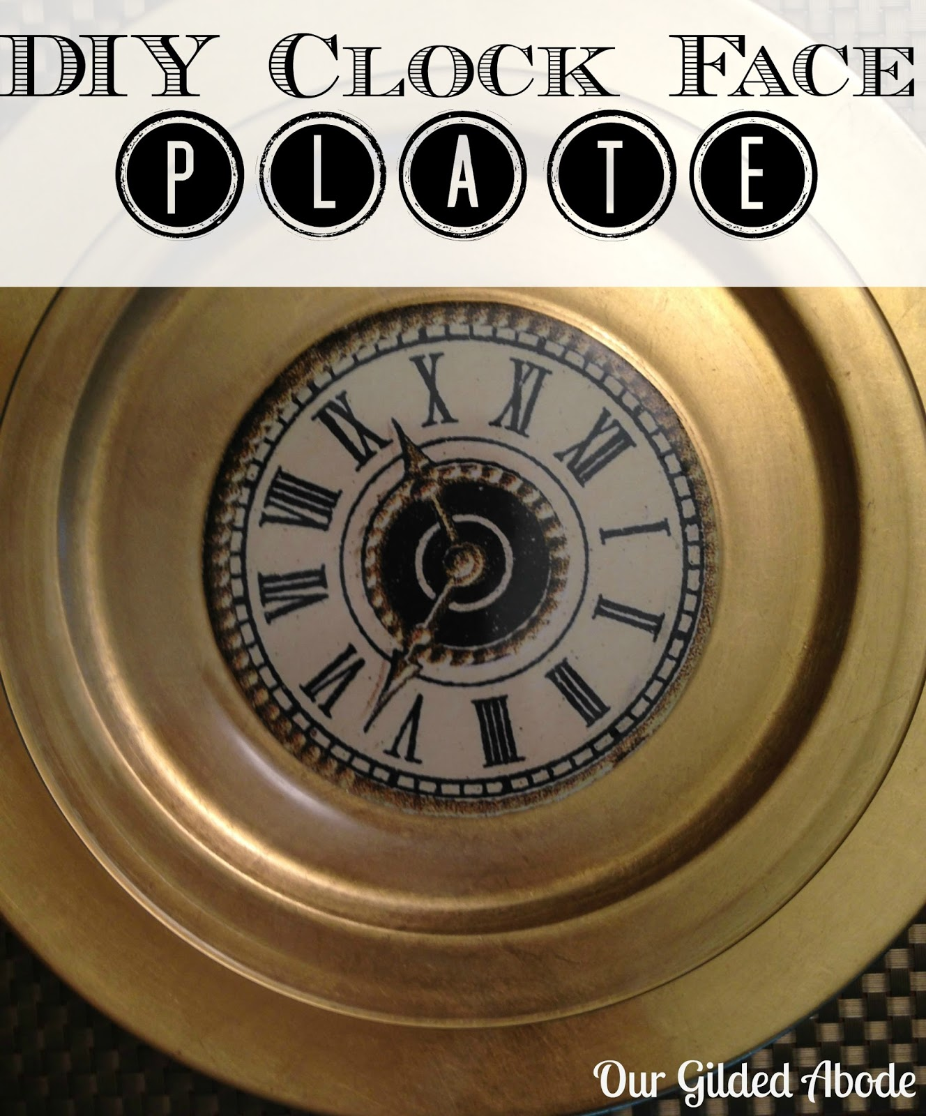 new year's diy clock face plates