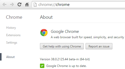 Бета-версия Google Chrome