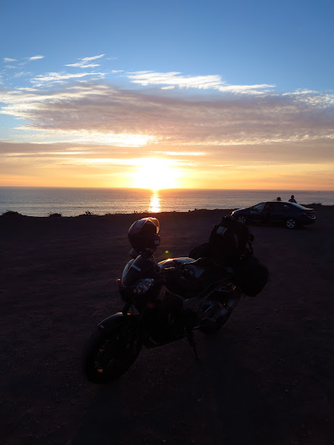Aprilia Tuono Pacific Coast Sunset
