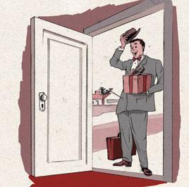 Resultado de imagem para vendedor de porta em porta