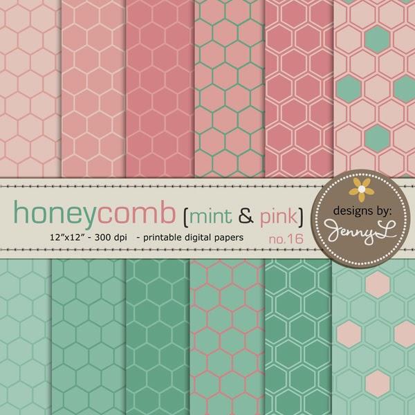 https://www.etsy.com/listing/192764684/honeycomb-hexagon-design-mint-pink?