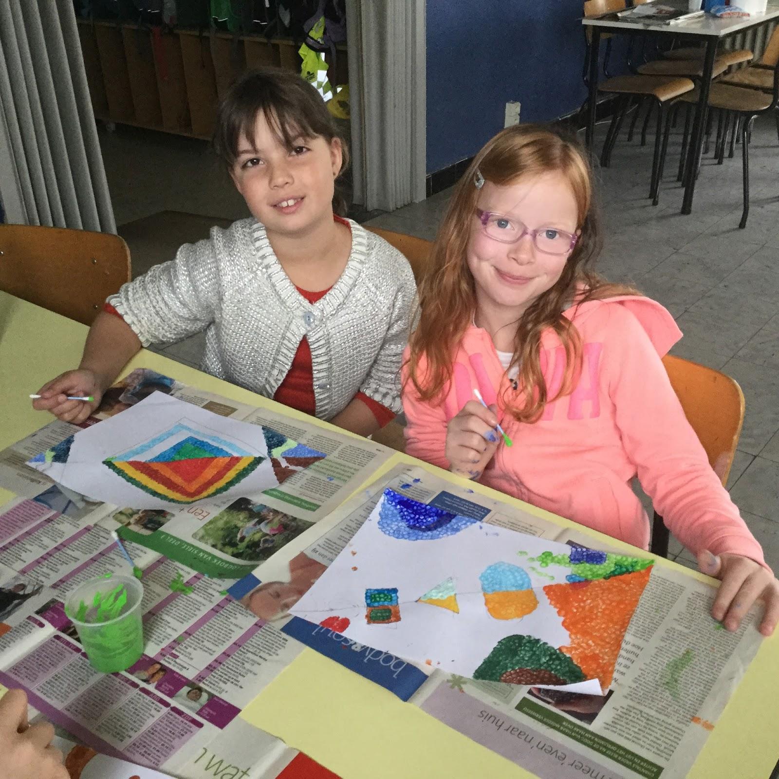 De klas van juf suze koude en warme kleuren in onze kunstwerkjes - Koude en warme kleuren ...