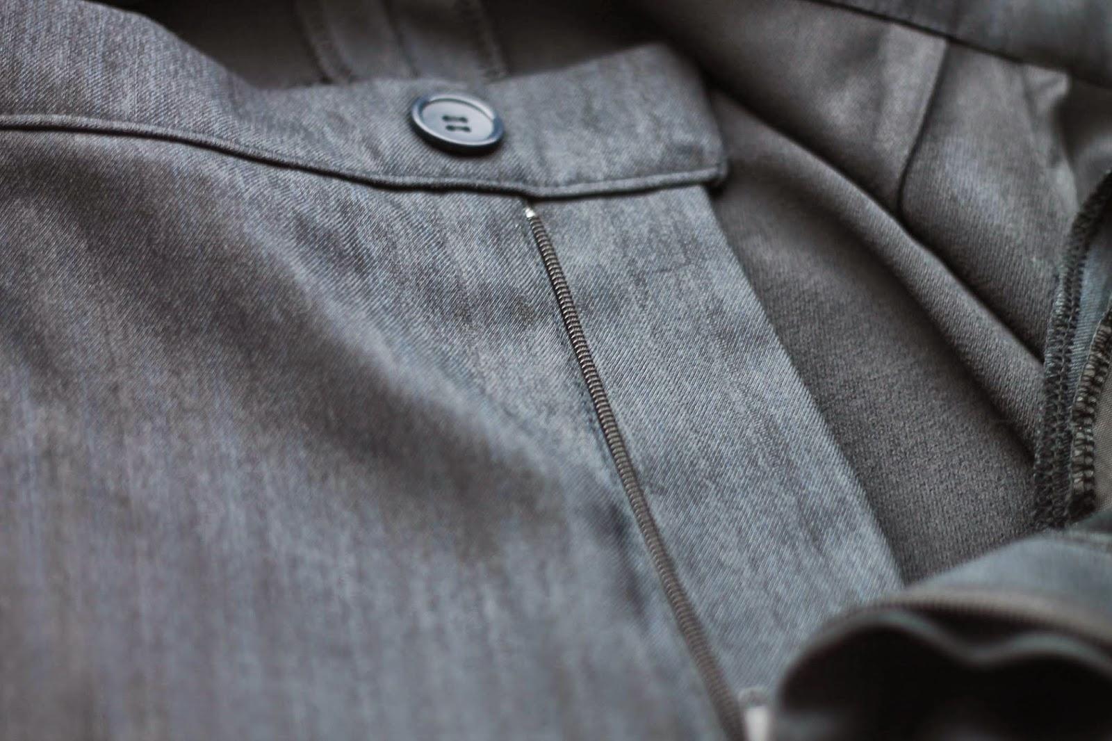 Заменить молнию на брюках мастер класс