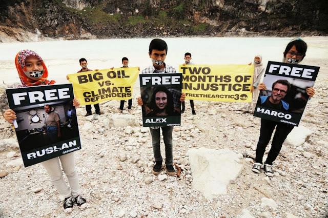 Warga Bumi Serukan Pembebasan Aktifis Greenpeace