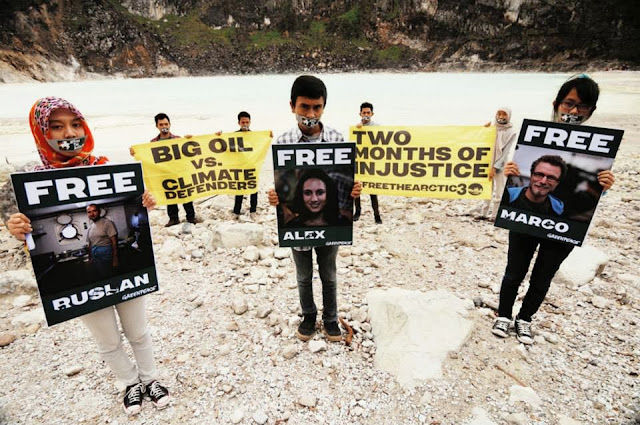 40 Negara Serukan Pembebasan Aktifis Greenpeace
