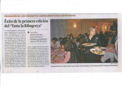 """Éxito de la primera edición del """"Tasta la Ribagorça"""" Rt. Casa Prades y Porté-Estop (Alta Ribagorça)"""