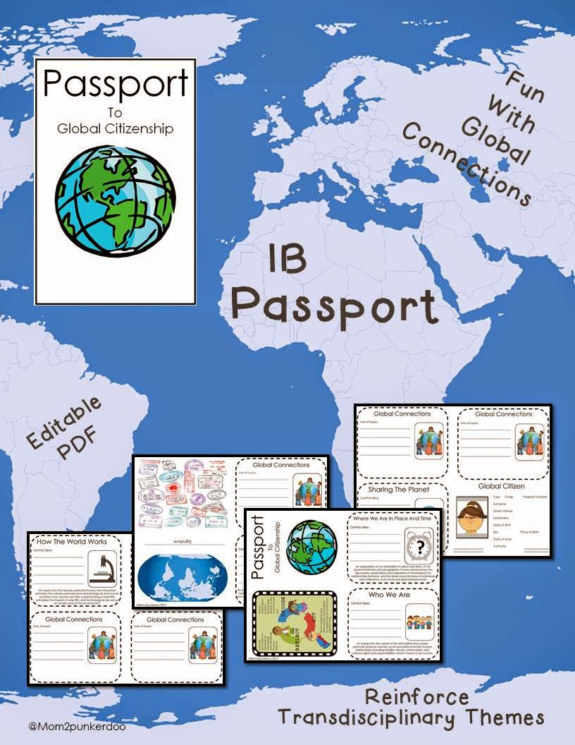 IB PYP Transdisciplinary Themes Passport