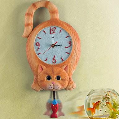 Reloj de Pared Gato con Péndulo