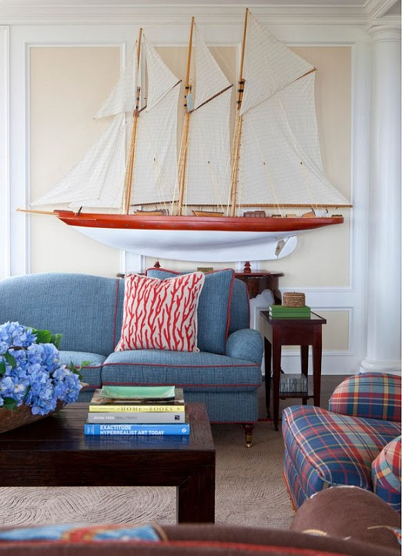 Model ships interior design nautical handcrafted decor blog for Ship decor home