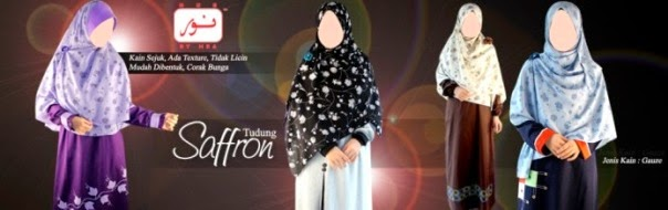 tudung saffron labuh online terkini jubah muslimah