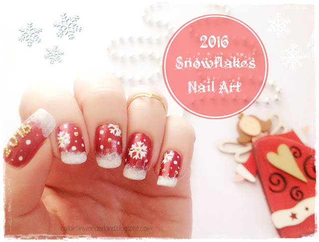 2016 New Year's Day - Snowflakes Nail Art