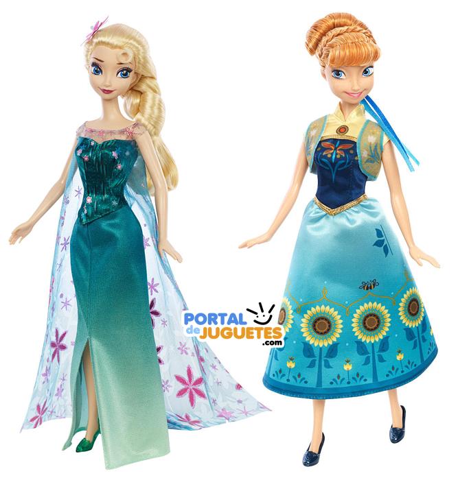 muñecas elsa anna frozen fever mattel