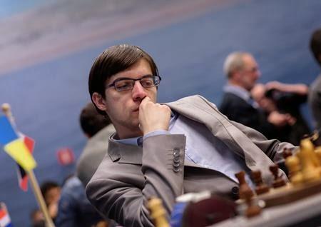 Echecs : Une partie clé de la ronde 7 du Tata Steel. La victoire de Maxime Vachier-Lagrave (2757) qui a maté le Croate Ivan Saric (2666) en deux coups - Photo © Alina L'Ami