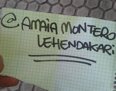 """""""Amaia Montero lehendakari"""""""