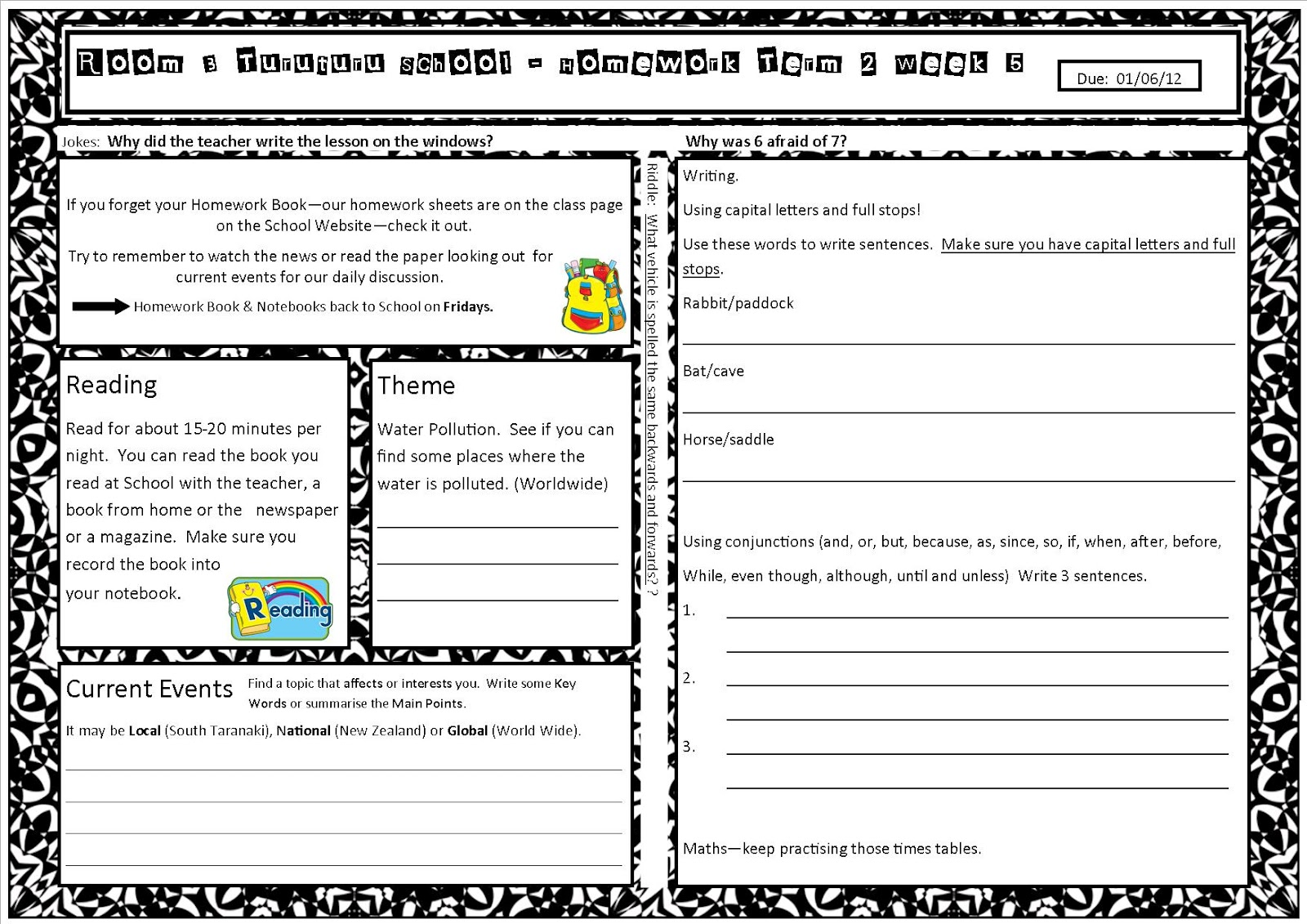 Worksheet  Third Grade Homework Sheets  Wosenly Free Worksheet