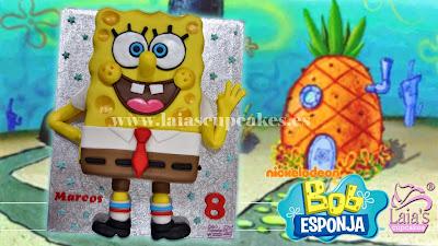 Tarta fondant Bob Esponja Laia's Cupcakes Puerto Sagunto