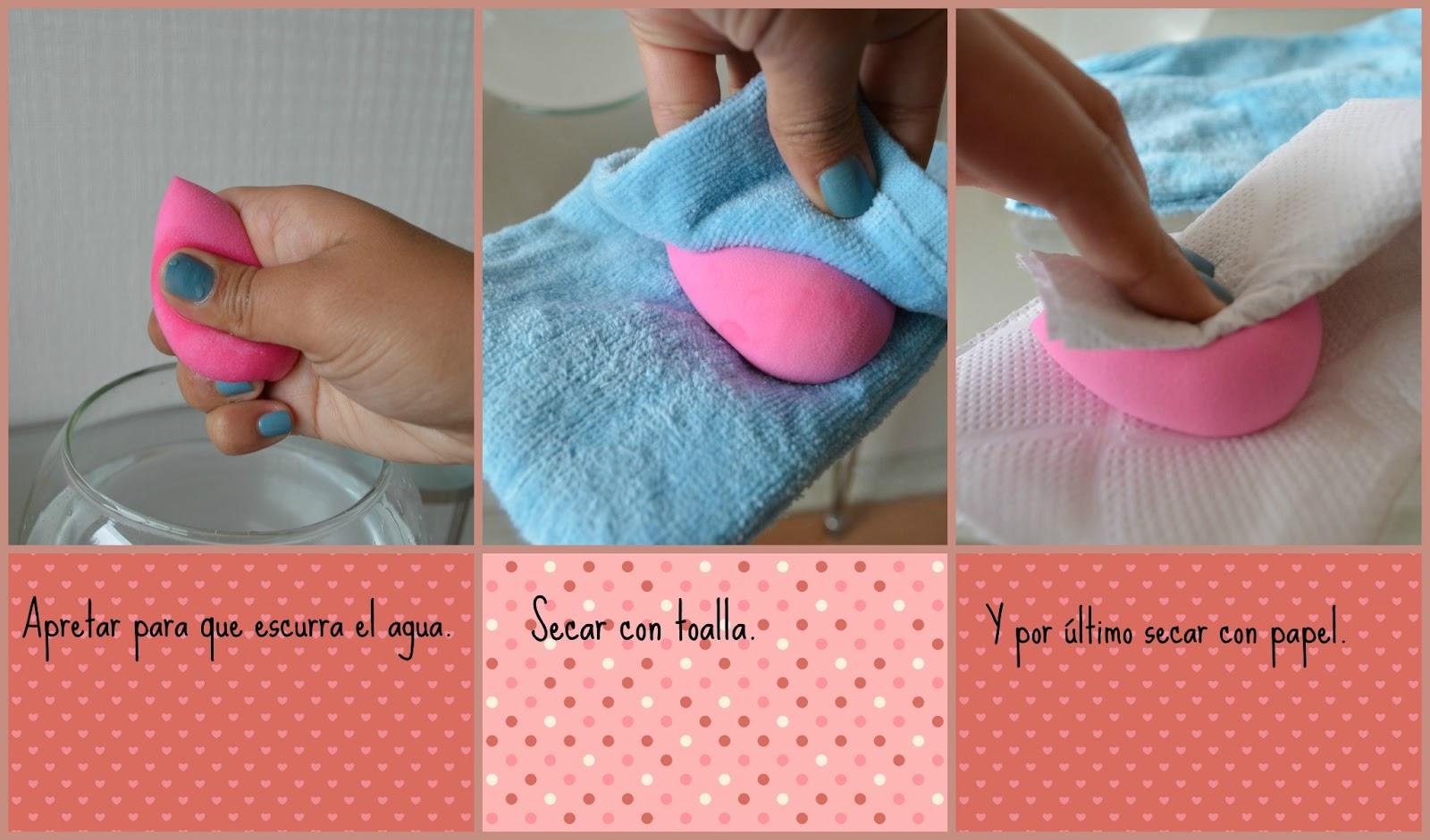 lavar esponjas de maquillaje
