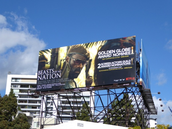 Beasts of No Nation Golden Globes nominee billboard