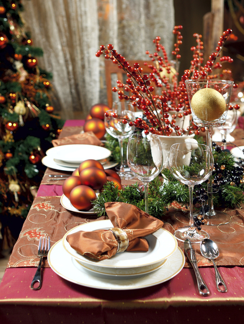 Decoraci n f cil decorar la mesa en navidad - Mesas para navidad ...