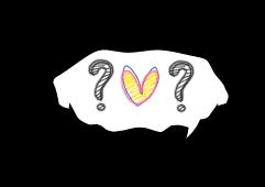 Plaquinha coração interrogação - criação Blog PNG-Free