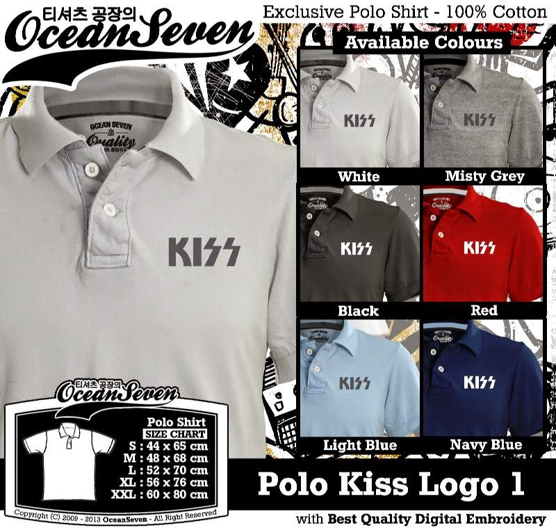 Kaos Polo Kiss Logo 1