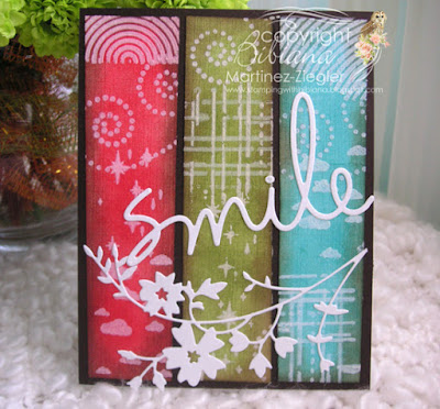 masculine card with stencils front