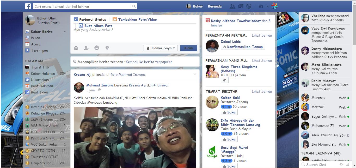 mengubah tampilan facebook dengan foto sendiri