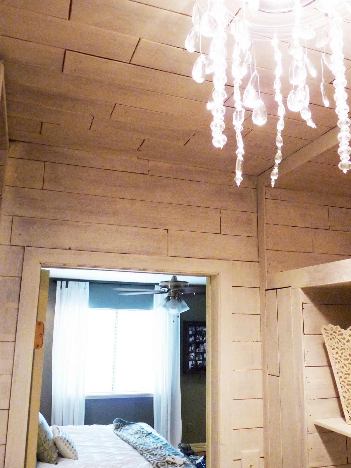 lifestyle closet chandelier with master ceiling crystal and tempaper blog faux