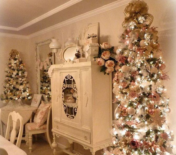 A kid at christmas are you dreaming of a shabby chic - Decorazioni natalizie stile shabby chic ...