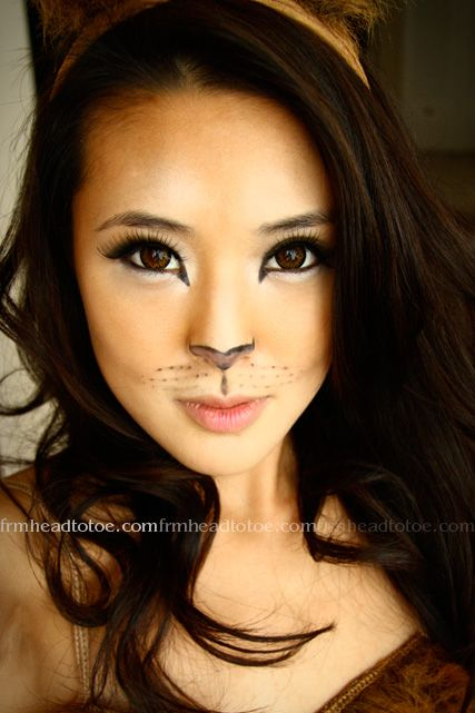 The Bloomin Couch: Costume makeup - Cat Costume Makeup Ideas